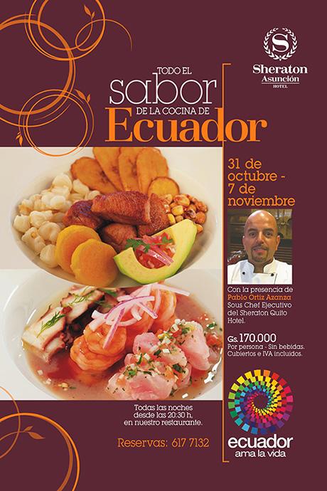 Todo el Sabor de la Cocina de Ecuador en el Sheraton